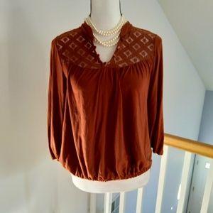 Ella moss Anthropologie blouse top size medium